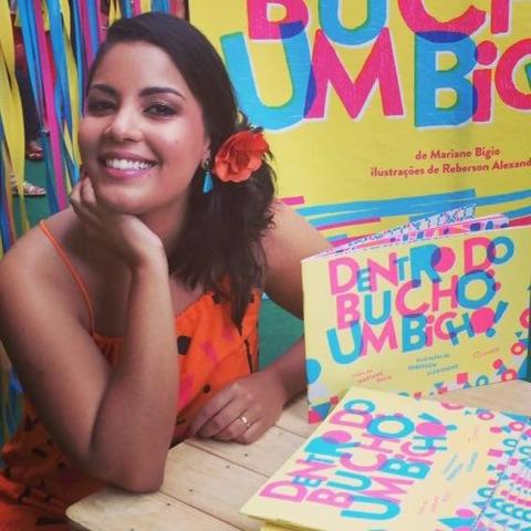 Mariane Bigio lança livro na Vila 7. Crédito: Arquivo pessoal