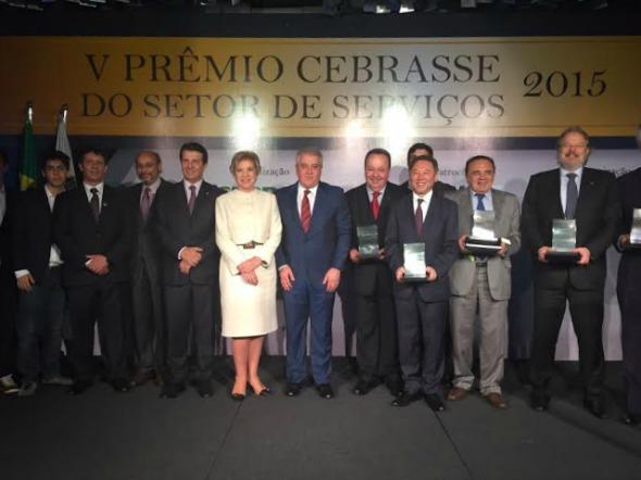 Cerimônia de entrega do Prêmio Cebrasse 2015. Crédito: Acervo Pessoal