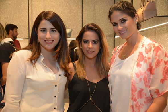 Camila Gusmão, Manuela Tenório e Gabriela Galvão. Crédito: Divulgação/Valentino