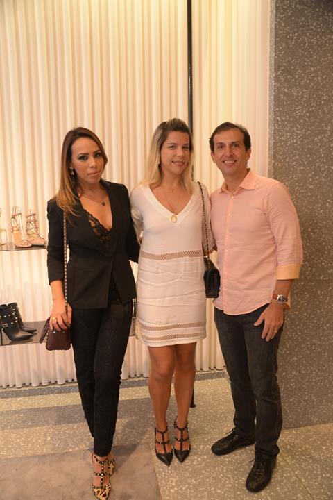 Paula Ardanza, Luciana e Paulo Mapurunga. Crédito: Divulgação/Valentino