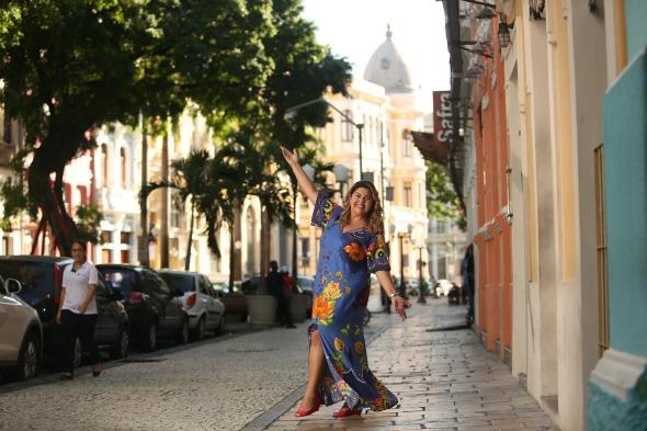 Fabiana Karla passou 15 dias de recesso curtindo a terra natal -  Credito: Hesiodo Góes/Esp. DP