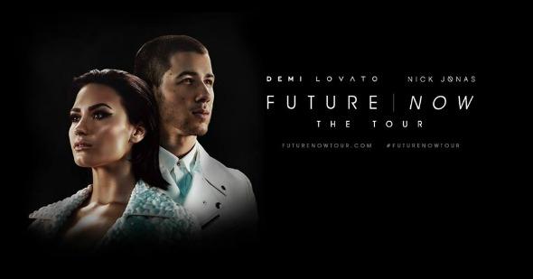 """Poster de divulgação oficial da turnê """"Future Now"""". Crédito: Reprodução Facebook"""