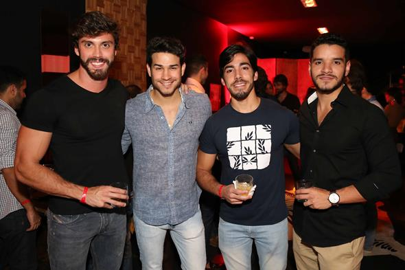 Eric Numeriano, Felipe Peri, Daniel Lobo e Thiago Vanderlei. Crédito: Guilherme Paiva/Divulgação