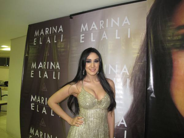 Marina Elali fez o show
