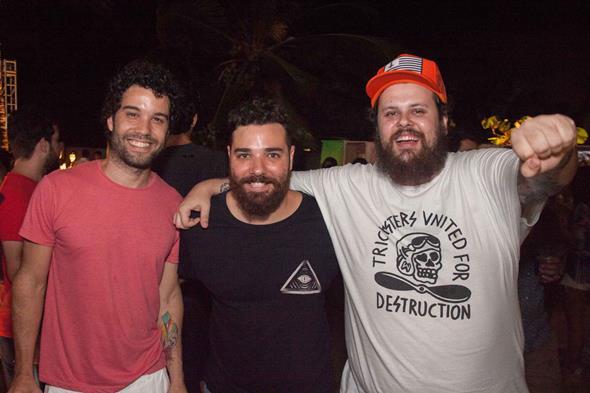 Thiago Megale, Lucio Morais e Lucas Logiovine Créditos: Vito Sormany/Moove Comunicação