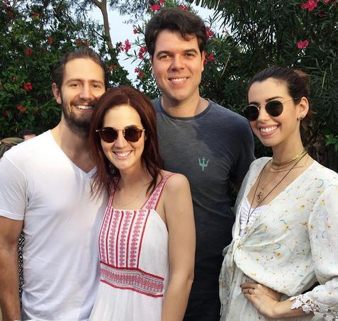 Vic Ceridono, Rafael Trapé, Diego Nunes e Camila Coutinho Créditos: Reprodução Instagram oficial Camila Coutinho