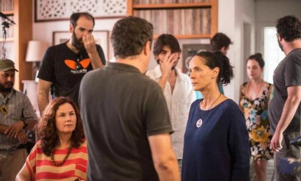 Sonia Braga nas gravações de 'Aquarius'. Crédito: Victor Jucá/Divulgação