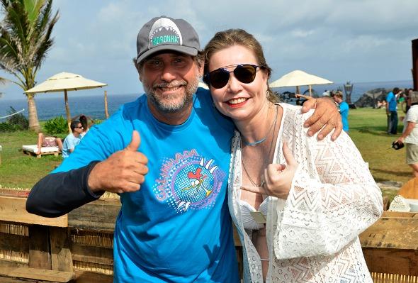 Ana Claudia Sultanum e Leo Veras Créditos: Keila Castro/Divulgação