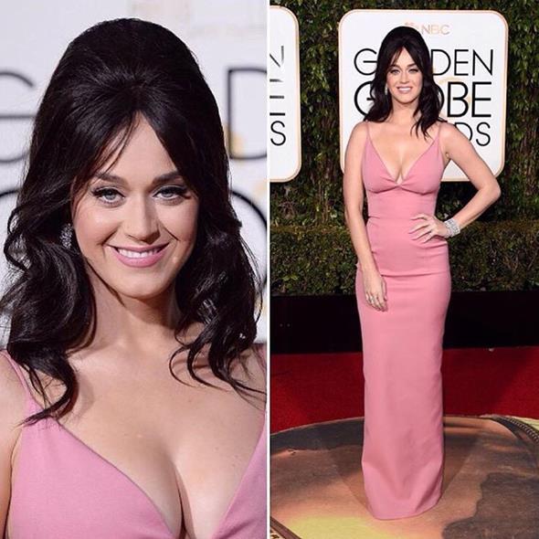Katy Perry apostou num rosinha claro - Crédito: Reprodução/Twitter
