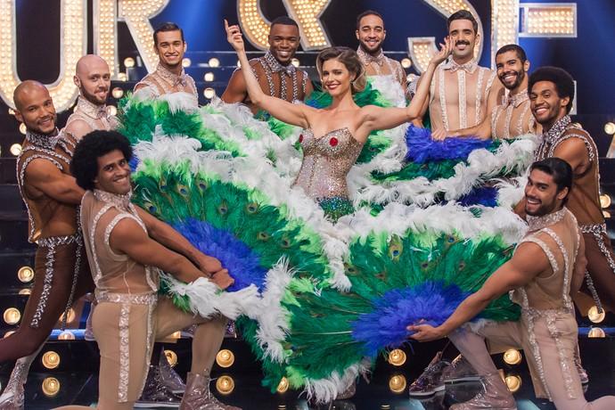 """Fernanda Lima no palco do programa """"Amor & Sexo"""". Crédito: Arthur Meninea/Gshow"""