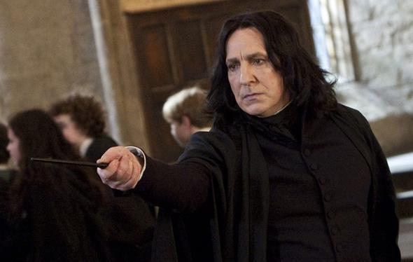 Alan Rickman como Snape em Harry Potter - Crédito: Reprodução