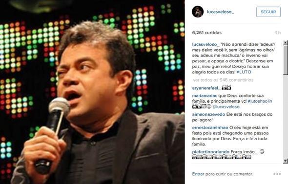 O filho do humorista se pronunciou por rede social - Crédito: Reprodução/Instagram