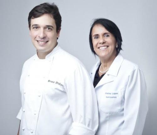 Chef Bruno Didier e a nutricionista Cristina Lopes. Crédito: Divulgação