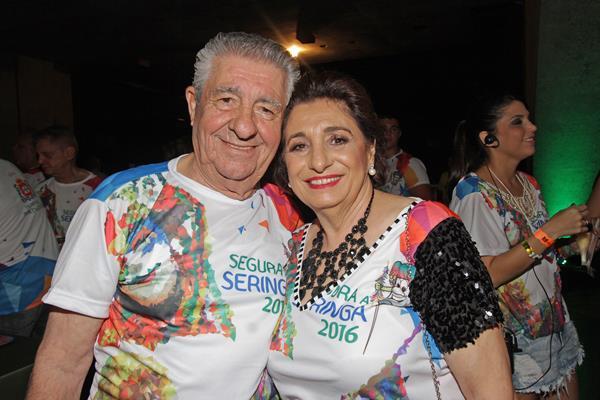 O provedor do Real Hospital Português Alberto Ferreira da Costa e sua Carmem - Crédito: Roberto Ramos/DP