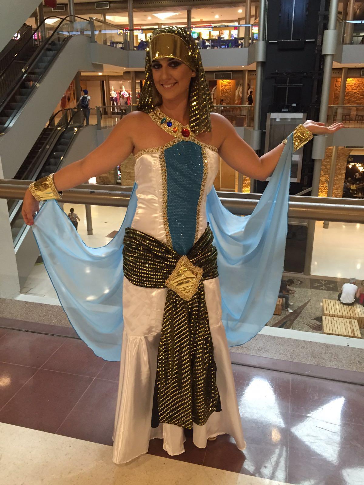 Fantasia de rainha do Egito - Crédito: Thayse Boldrini/DP