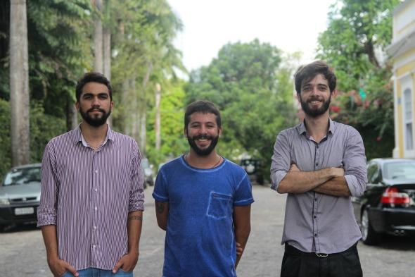 Caio Remígio, Luiz Paulo Cavalcanti e Maurício César. Crédito: Divulgação/Oficina Cabrón