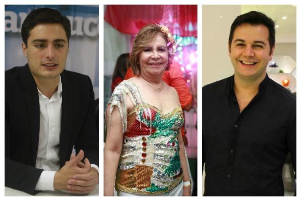 Camilo Simões, Terezinha Nunes e Heracliton Diniz serão jurados no Bal Masqué - Créditos: Julio Jacobina/DP, Bernardo Dantas/ DP e Tais Machado/DP