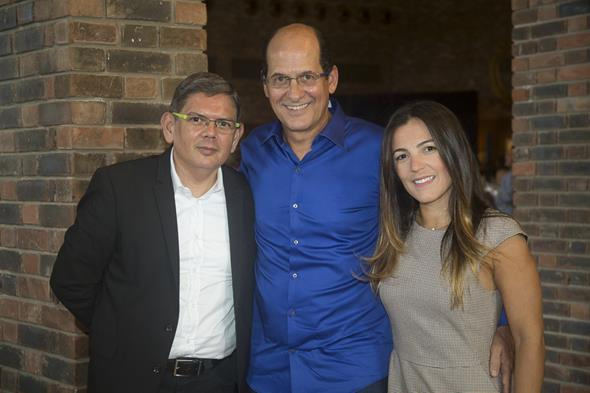 Ennio Benning, Queiroz FIlho e Cecília Ramos - Crédito: Igo Bione/Divulgação