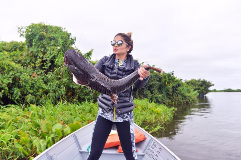 A blogueira Thassia Naves viajou recentemente para o Pantanal - Crédito: Rhaiffe Ortiz/Divulgação