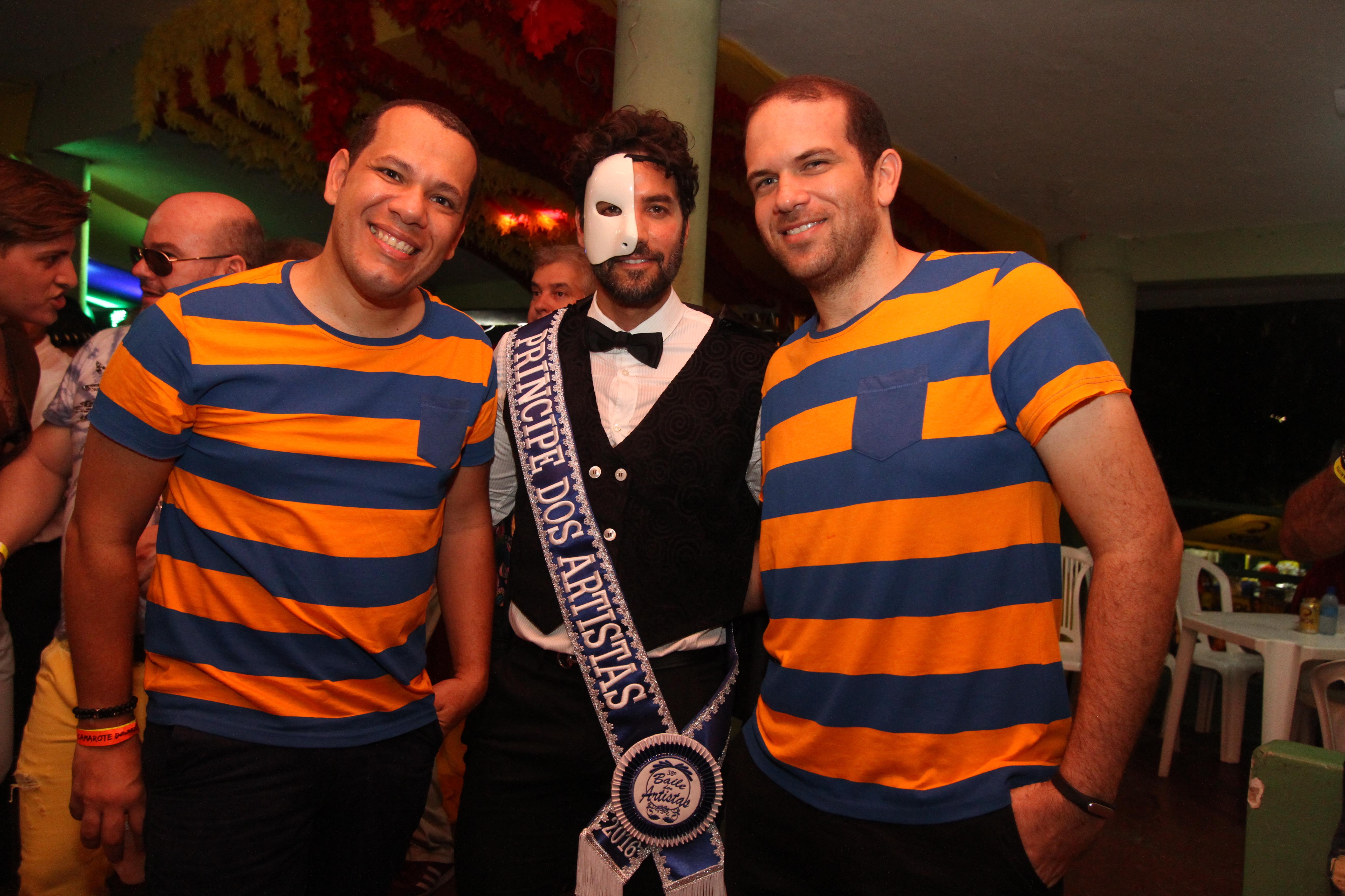 Saulo Barros , Andre Caricio e Pedro Jorge - Crédito: Nando Chiappetta/DP