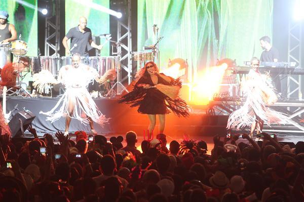 Daniela Mercury no palco do Bal Masqué - Crédito: Hesíodo Goes/Esp. DP