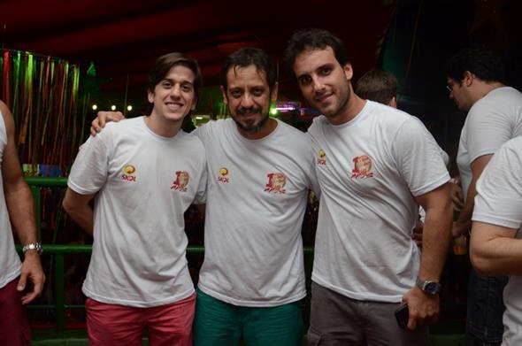 Felipe Lucena, Gustavo Bello e Bruno Ramos - Crédito: Luiz Fabiano/Divulgação