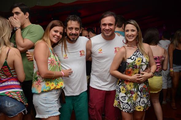 Lara Hazin,Gustavo Bello, Waldemar Valente e Dayanna Ximenez - Crédito: Luiz Fabiano/Divulgação