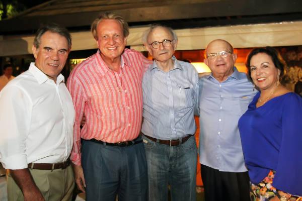 Francisco Balestin, Edson Bueno, José Aécio Vieira , Eustácio e Ângela Vieira