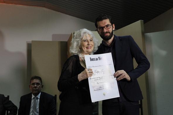 Felipe Torres e Fátima Quintas. Crédito: Ricardo Fernandes / DP