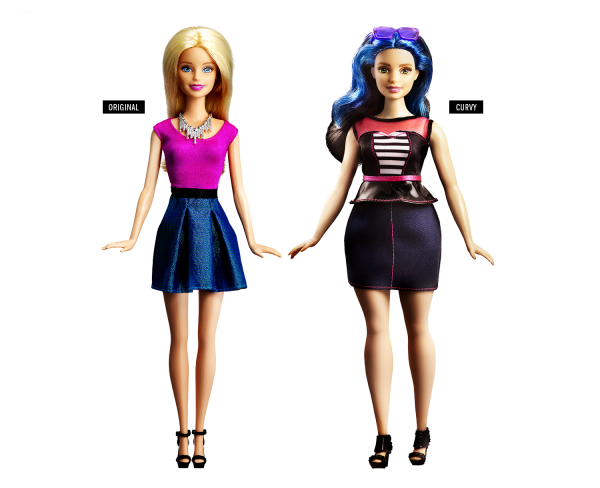 A Barbie Original e a Barbie Curvy - Crédito: Reprodução/Mattel