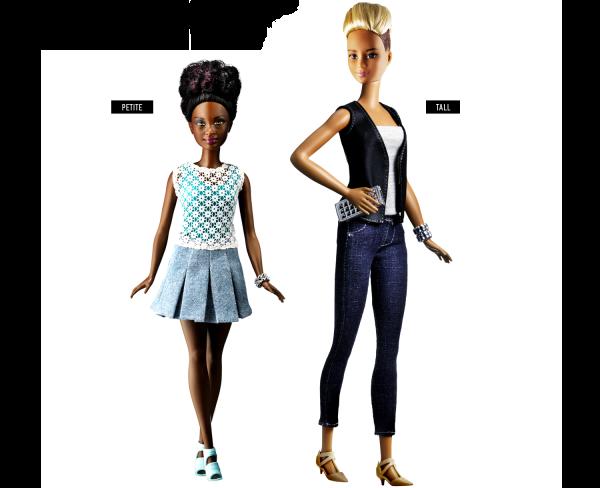 As Barbies Petit e a Tall - Crédito: Reprodução/Mattel