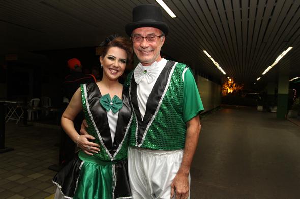 Ana Karina e Claudio Marinho. - Crédito: Nando Chiappetta/DP - BLOG JA
