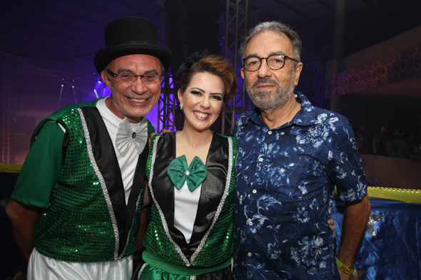 Claudio Marinho, Ana Karina e Roberto Lucio. - Crédito: Nando Chiappetta/DP - BLOG JA