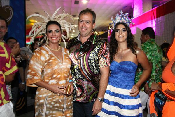 Kátia Peixoto, Eduardo Henrique e Maria Cecilia Peixoto - Crédito: Paulo Paiva/DP