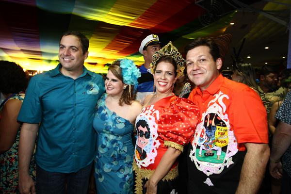 Paulo Câmara, Ana Luiza Câmara, Cristina Mello e Geraldo Julio - Crédito: Paulo Paiva/DP