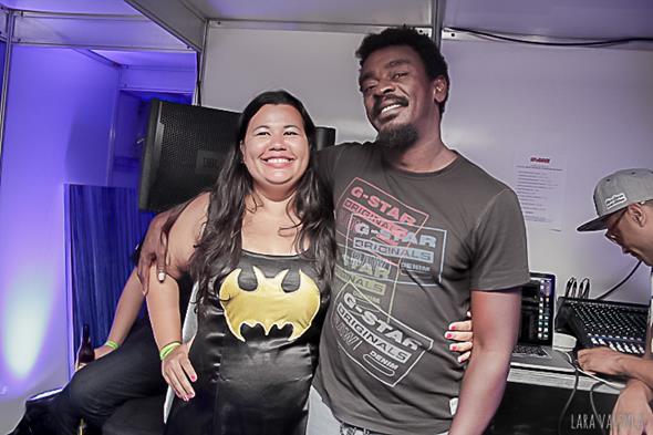 Eliane Marques, fundadora do bloco, e Seu Jorge - Crédito: Lara Valença/Divulgação