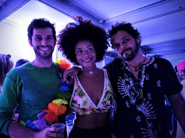 Edjalma Freitas, Luiza Guedes e Charles Theony Crédito: Alonso Laporte/Verbo/Divulgação