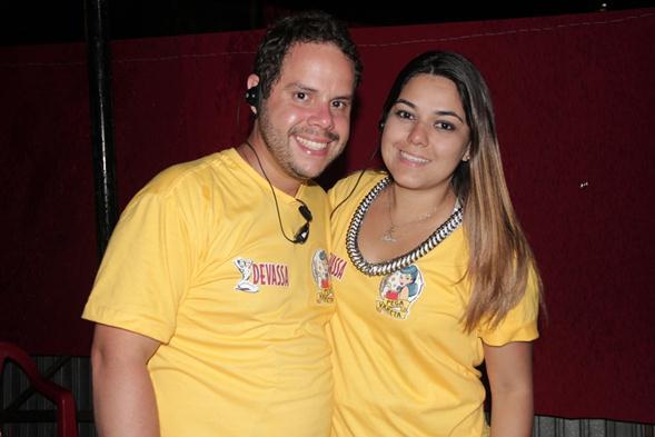 Beatriz Campos e Rodrigo Calazans. Crédito: Larissa Nunes / Divulgação