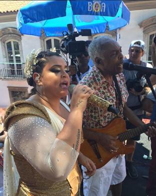 Gilberto Gil fez participação no bloco - Crédito: Reprodução