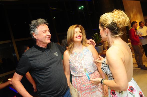 Cláudio Lacerda, Heloísa e Sandra Janguiê - Crédito; Armando Artoni/Divulgação