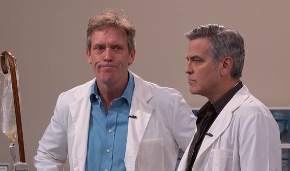 Os atores retomaram seus papéis em House e E.R. - Crédito: Reprodução/Youtube