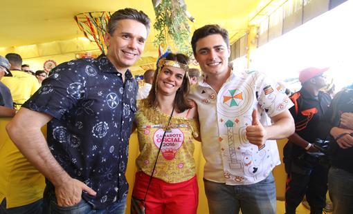 Felipe Carreras, Ana Paula Vilaca, Camilo Simoes. - Crédito: Nando Chiappetta/DP