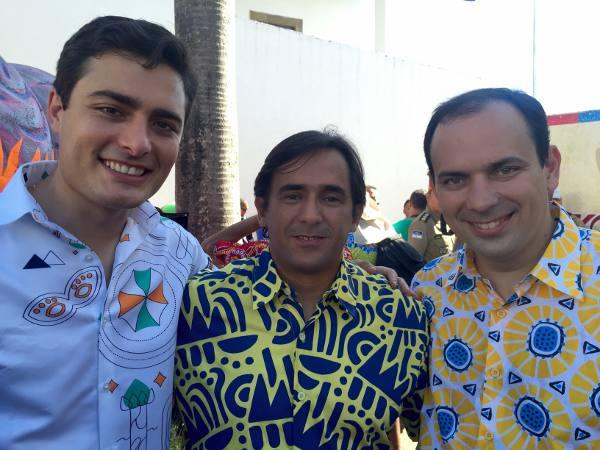 Camilo Simões, Alexandre, Alexandre Gabriel,  e Diego Rocha, o primeiro time da Prefeitura do Recife