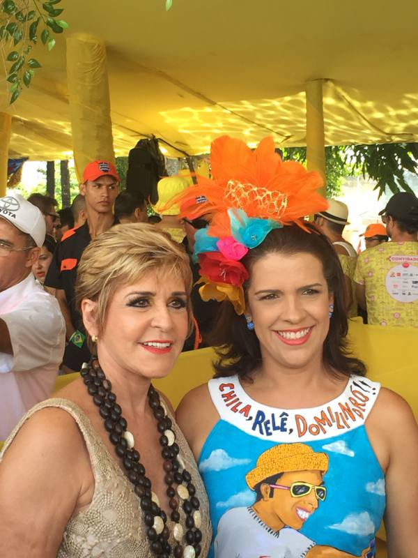 As primeiras-damas Ana Nery Menezes e Cristina Mello/JAMS