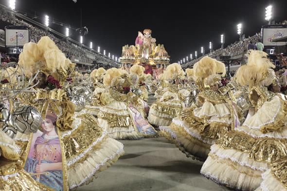 Detalhes do desfile da Mangueira no Carnaval 2016 do Rio de Janeiro. Crédito: Gabriel Santos/Riotur