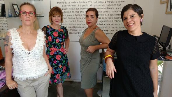 Carol Monteiro, Raquel Laureano, Rosa Maria Pereira e Marília Benevides. Crédito: Fernando Paulino/Divulgação