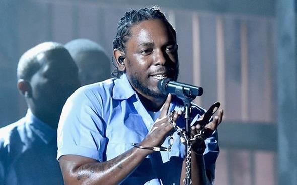 O rapper Kendrick Lamar era o mais indicado, em onze categorias - Crédito: Reprodução/Twitter