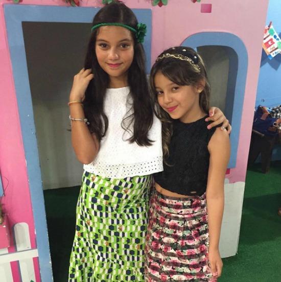 As minibloggers Lelê Cabral e Maleca. Crédito: Reprodução Instagram