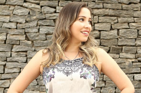 A blogueira Aline Lima. Crédito: Divulgação/Blog Tuudo Aqui