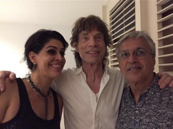 Mick Jagger se encontrou com Caetano Veloso no Rio - Crédito: Reprodução/Instagram